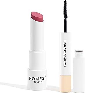 Honest Beauty Tinted Lip Balm, Summer Melon | Vegan, 0.141 Oz. and Honest Beauty Extreme Length Mascara + Lash Primer | 2-...