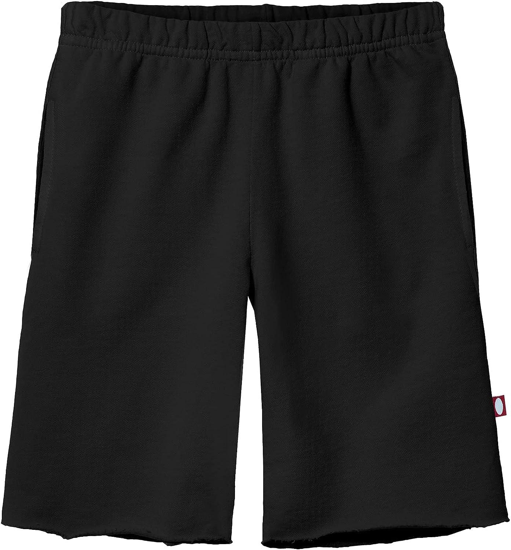 City Threads Boys' 100% Cotton Soft Fleece Shorts Made in USA