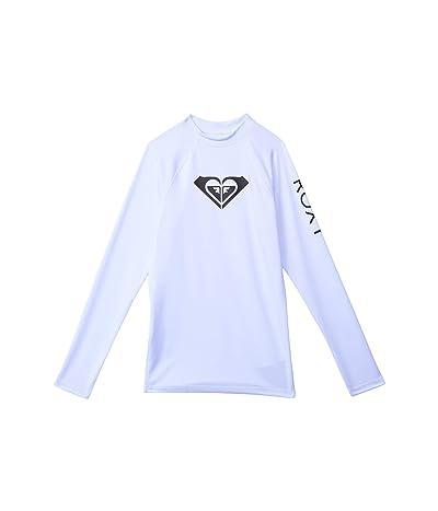Roxy Kids Whole Hearted Long Sleeve Rashguard (Big Kids) (White) Girl