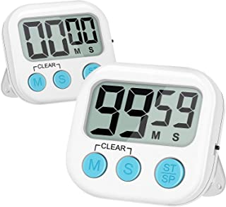 Blossmfree Kitchen Timer, 2 Pack Large Digits Classroom Timer for Kids,Simple Operation Magnetic Timers, Digital Timer for...