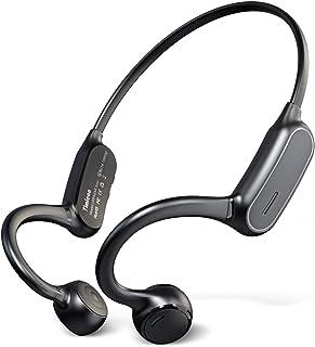 【最新のデザイン Bluetooth5.2 骨伝導イヤホン 】 Bluetooth イヤホン 骨伝導 ヘッドホン 耳掛け式 ワイヤレス イヤホン マイク付き 最大10時間連続再生 CVC8.0ノイズキャンセリング AAC対応 自動ペアリング H...
