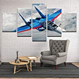 Rudxa Canvas Painting Fighter Wall Art Print Landscape Poster Set Wall Picture Living Room Home Decor- sin Marco