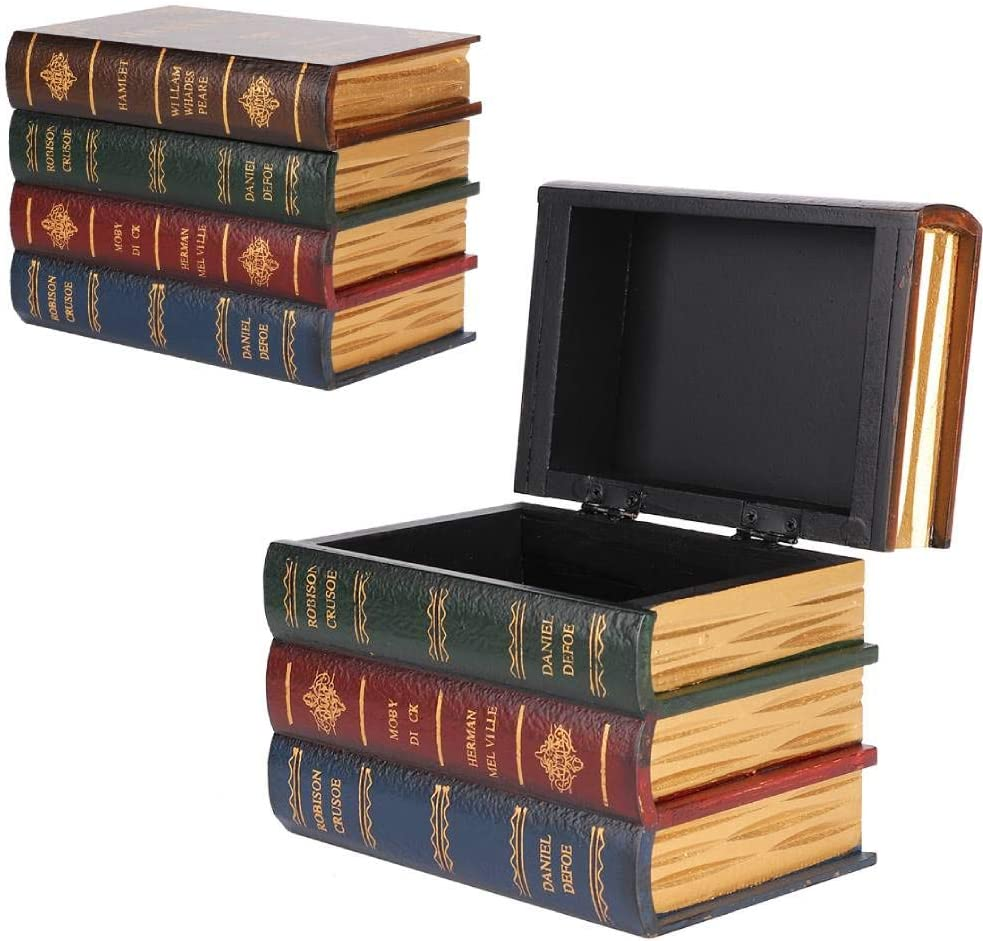 Qkiss Book Boxes Decorative Vintage Portland Mall Box Storage Dec Sale Special Price Simulation
