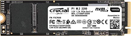 Crucial P1 3D NAND NVMe PCIe M.2 SSD 1TB