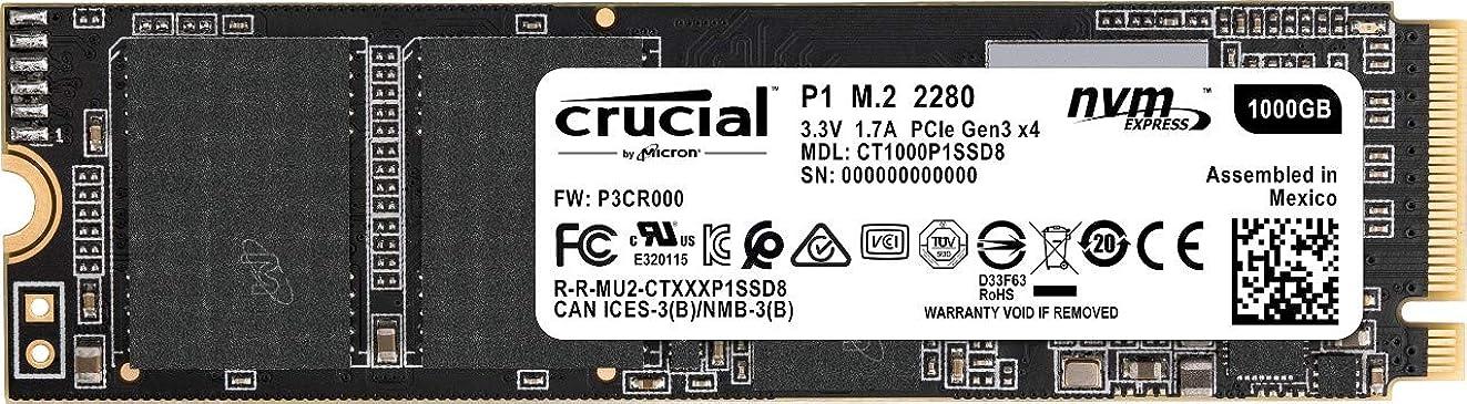 Crucial P1 1TB 3D NAND NVMe PCIe M.2 SSD - CT1000P1SSD8