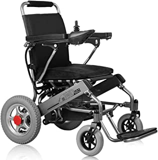 Electric Wheelchair Folding Collapsible Light Old Man Scooter Motorized Power Wheelchairs, Powerful Dual Motor Wheelchair Large Capacity Lithium Battery