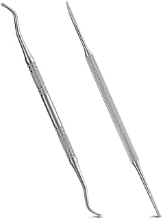 2PCS Ingrown Toenail File and Lifter with Storage Case,YINYIN100% Stainless Steel ingrown toenail tool,Double Sided Professional Grade Nail Cleaner Tool