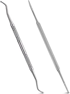 Sponsored Ad - 2PCS Ingrown Toenail File and Lifter with Storage Case,YINYIN100% Stainless Steel ingrown toenail tool,Doub...