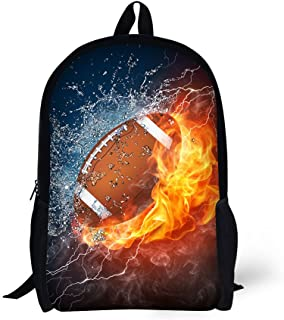 HW Book Bags for Kids 17 Inch Combustion Pattern School Bags