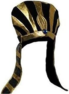 Jacobson Hat Company Egyptian Pharaoh Costume Headpiece, Black & Gold