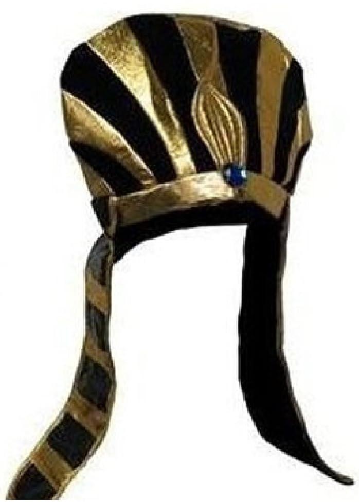 Private Island Egyptian Pharoah Black & Gold Headpiece Costume HAT