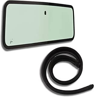 Make Auto Parts Manufacturing Set of 2 Windshield Glass & Cowl Weatherstrip Seal for Jeep Wrangler YJ 1987-1995