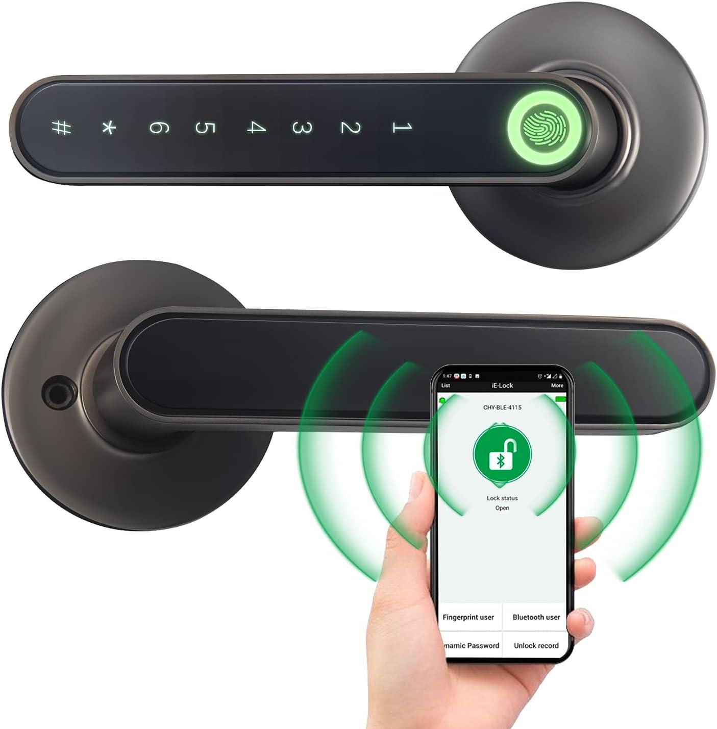 Fingerprint Door Lock Keyless Locks Cheap Dedication Smart Entry