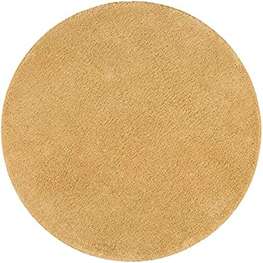 Snapstyle Palace - Tapis Shaggy à Poils Longs - Curry - Rond - 4 Tailles