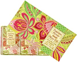 Greenwich Bay Trading Co. Shea Butter Spa Soap, 12.9 Ounce, Passion Flower and Olive Oil, 3 Pack