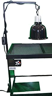 Deluxe Lamp Stand To Increase Lifespan Of Lamps & Bulbs And Safety, by Blue Spotted. For Use With Reptile Lamp Fixtures And Terrariums, Reptiles, Amphibians, Small Animals, Birds, And Farm Animals! See Options Below.
