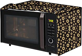 The Furnishing Tree Microwave Oven Cover for Samsung 21 L Convection CE73JD-B/XTL Floral Pattern Yellow