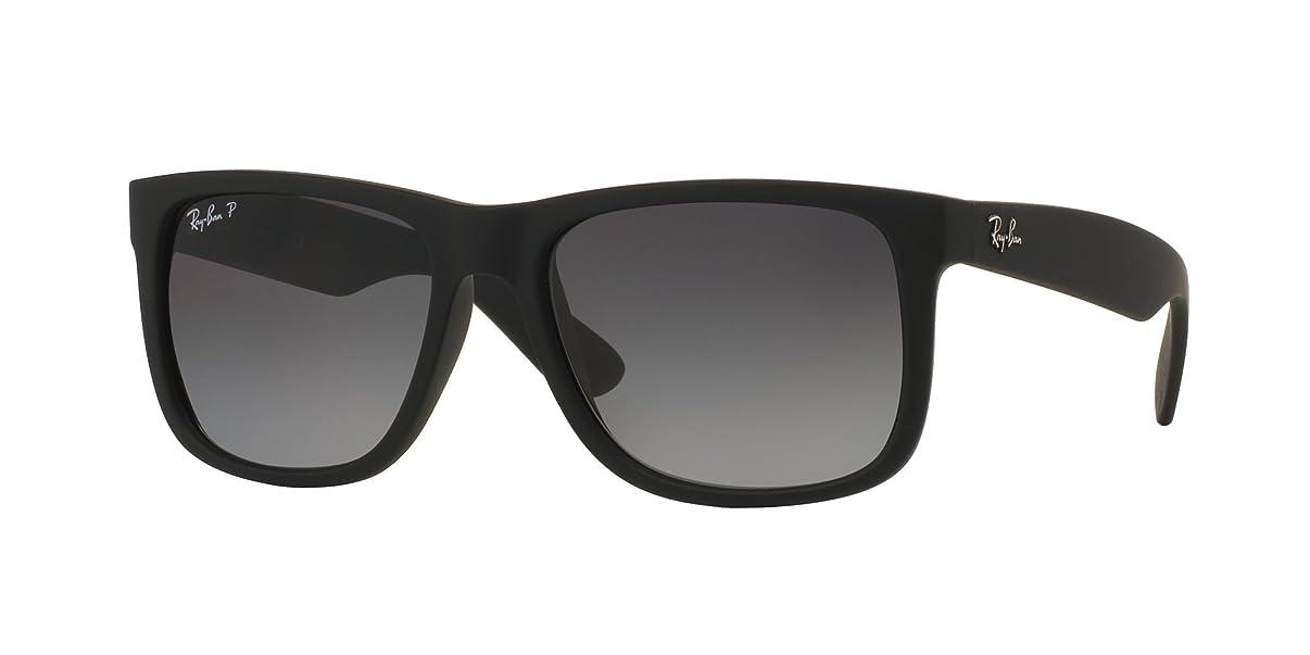 RB Justin Sunglasses (55 mm Matte Black Frame Polarized Black Lens, 55 mm Matte Black Frame Polarized Black Lens)