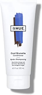 dpHUE Cool Brunette Conditioner, 6.5 oz - Blue Pigments to Neutralize Unwanted Orange, Red, Brassy Tones - Hydrates & Conditions for Soft, Shiny Hair & Detangles Strands - Gluten-Free