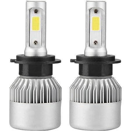 Linterna del coche H7, par de bombillas LED de auto/faro LED de alta/baja luz 6000K, 36W, 8000LM