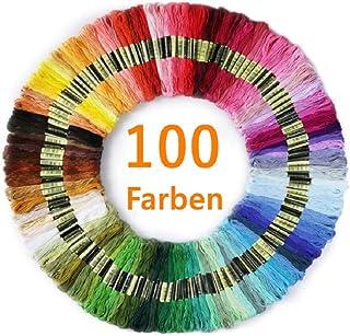 LECOKIT Stickgarn | Embroidery Floss Multifarben Weicher Baumwolle perfekt für Freundschaftsbänder |Stickerei | Multicolor für Kreuzstich100 Farben