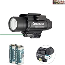Olight Baldr Pro Green Laser and LED Light Combo, 1350 Lumen CW LED Flashlight, Quick Release Mount, 2 x CR123A Batteries and LegionArms Sticker