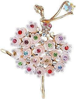 Bullidea Metal Enamel Pin Badge Brooch Bouquet Rhinestone Ballet Brooch Jewellery Christmas Birthday Festive Brooch Pin Co...