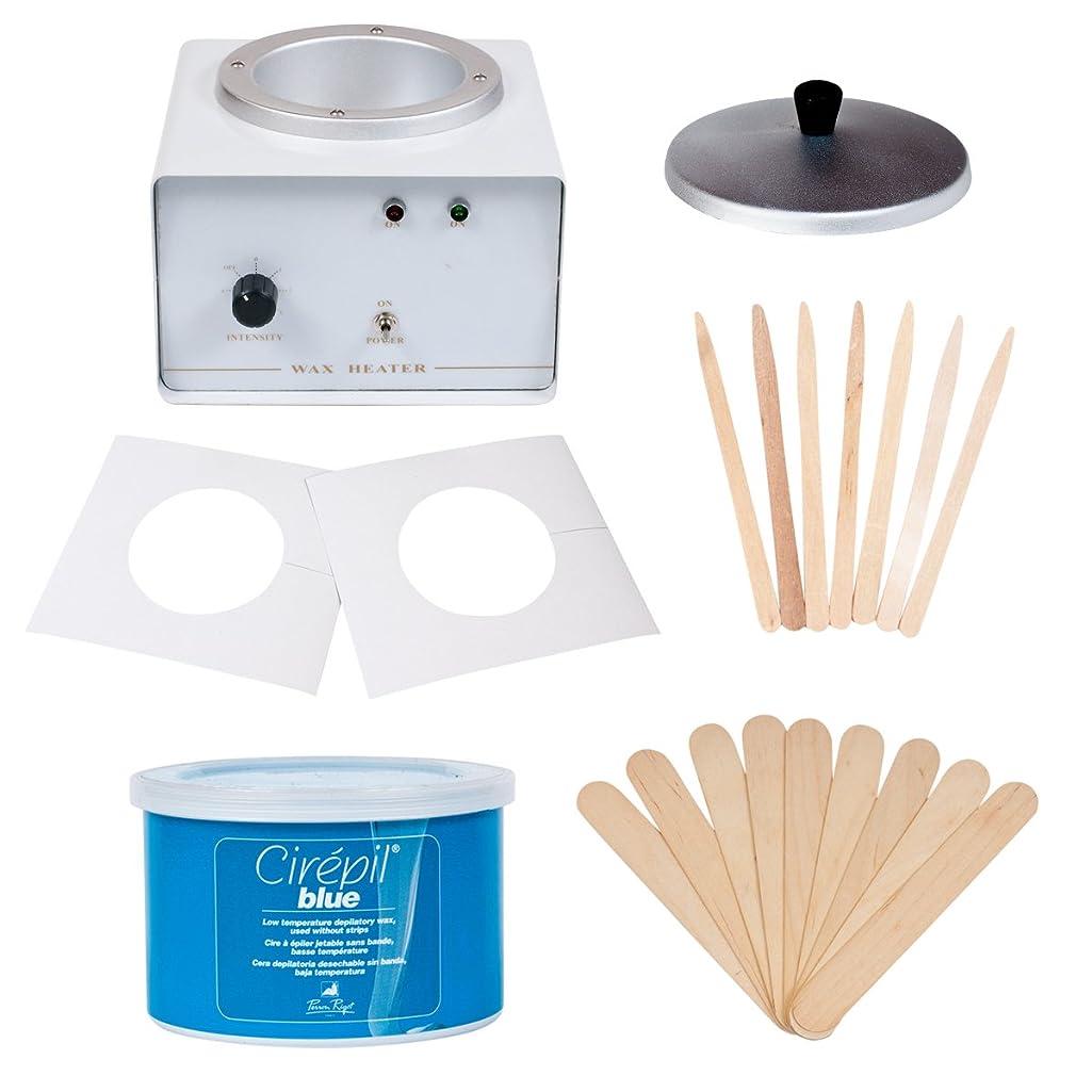 JMT Beauty Professional Wax Warmer Kit, includes Cirepil Blue Tin Wax (14oz) and accessories