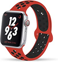 YC YANCH Compatible for Apple Watch Band 38mm 40mm 42mm 44mm, Soft Silicone Sport Band..