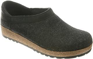 HAFLINGER Unisex GZ Felt Clog Closed Heel Size: 44 Charcoal