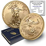 2021 1 oz Gold American Eagle Brilliant Uncirculated with United States Mint Box and a Certificate of Authenticity by CoinFolio $50 Mint State