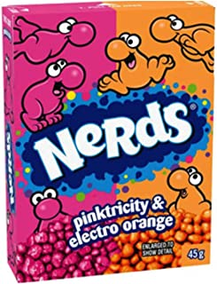 Nerds Pinktricity And Electro Orange 45g - Pack Of 12 Boxes