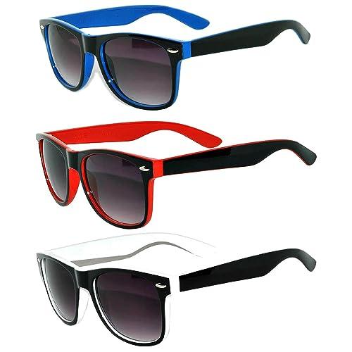 e9e7d67110d0 Stylish Retro Vintage Two Tone Sunglasses with Smoke Lens
