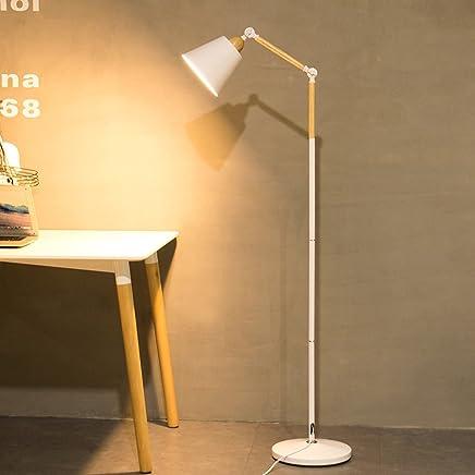 LILY 近代的なミニマリストの読書ソフトライトの保護フロアランプ、北欧の釣りライト、リビングルームベッドルームスタディ垂直ランプ (Color : White)