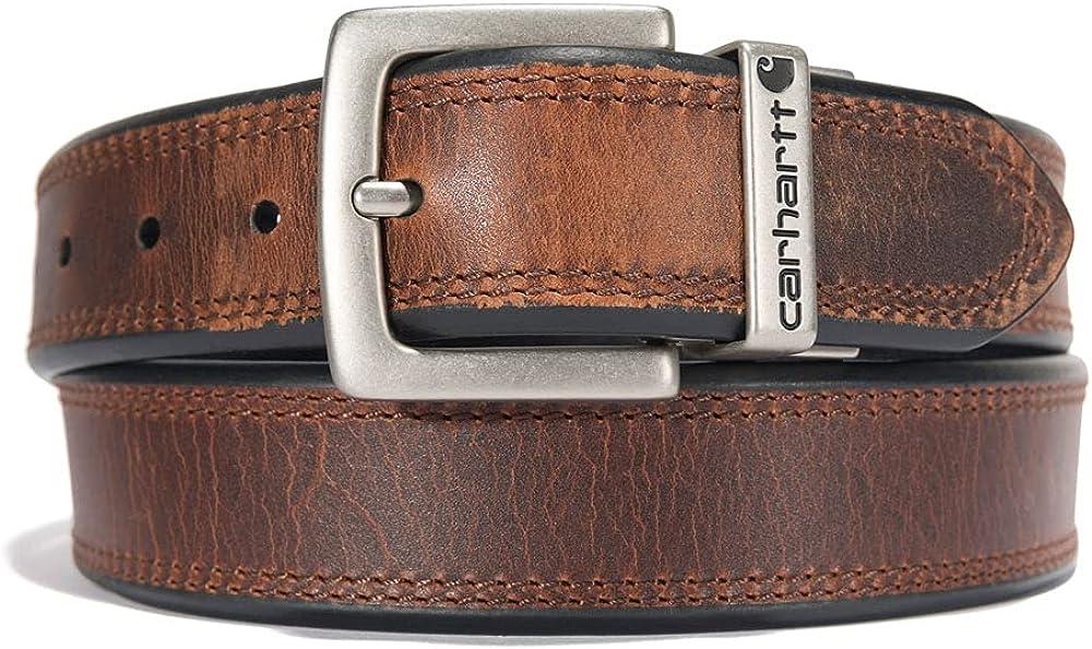 Carhartt Men's Reversible Double Row Stitching Belt