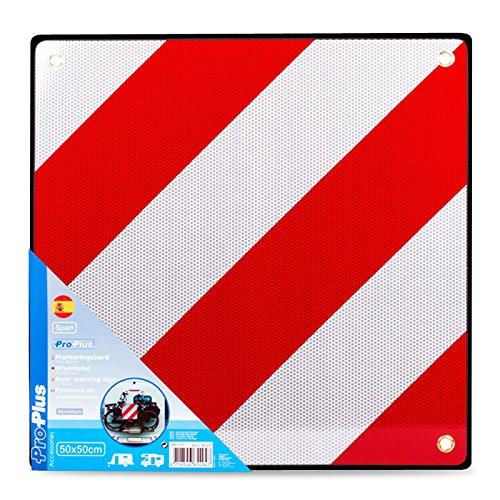 Aluminium waarschuwingsbord Spanje met ogen 50 x 50 cm reflecterend in rood/wit