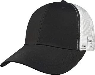 Technical Trucker Hat - Plain Black with White