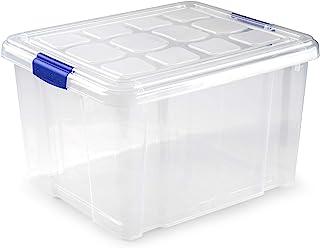 Plastic Forte Caja de Almacenamiento Nº2, 42 x 36 x 25 cm, 25 litros, Cierre de Clip