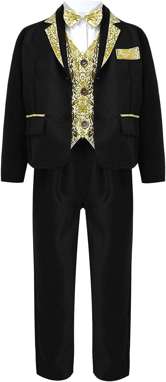 Choomomo Boys 5 Spasm price Piece Formal Suit Shirt Coat + Blazer Dress Free Shipping New Set