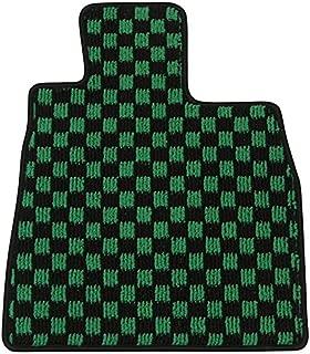 Elgan(エルガン) フロアマット(1台分) ドレスアップシリーズ チェック柄 グリーン 日産 エルグランド 16.08-22.08 E51 8人乗り   5ドア コンソール無,2列目マルチセンターシート