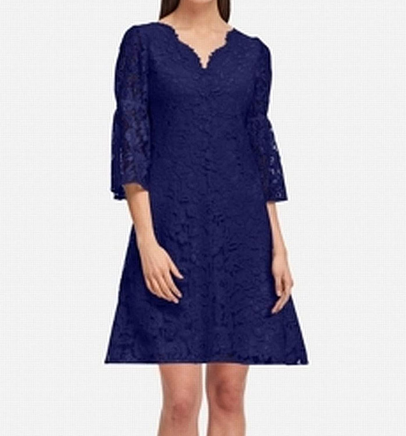 DKNY Womens Lace KneeLength Party Dress