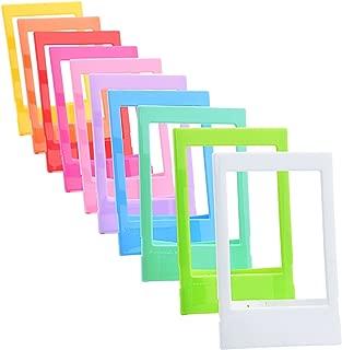 Sunmns 10 Pieces Colorful Mini Photo Picture Frame for Fujifilm Instax Mini 9 8 8+ 70 7s 90 26 Instant Film