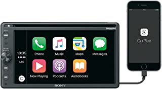 """Sony XAV-AX200 6.4"""" Car Play/Android Auto CD/DVD Receiver with Sirius XM Tuner and 90 Day Service Included"""