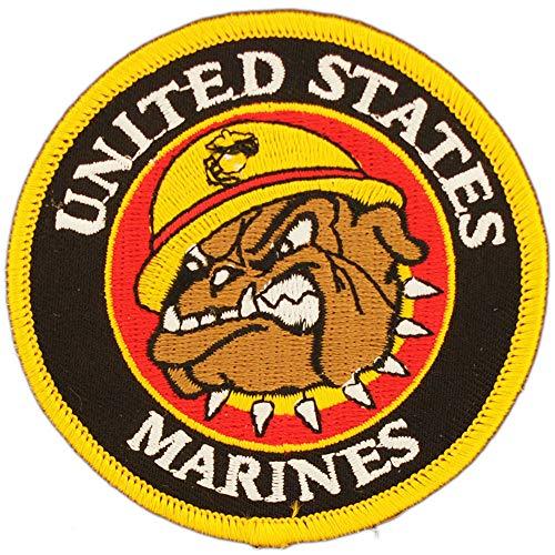 United States Marine Corps USMC Bulldog Patch, with Iron-On Adhesive