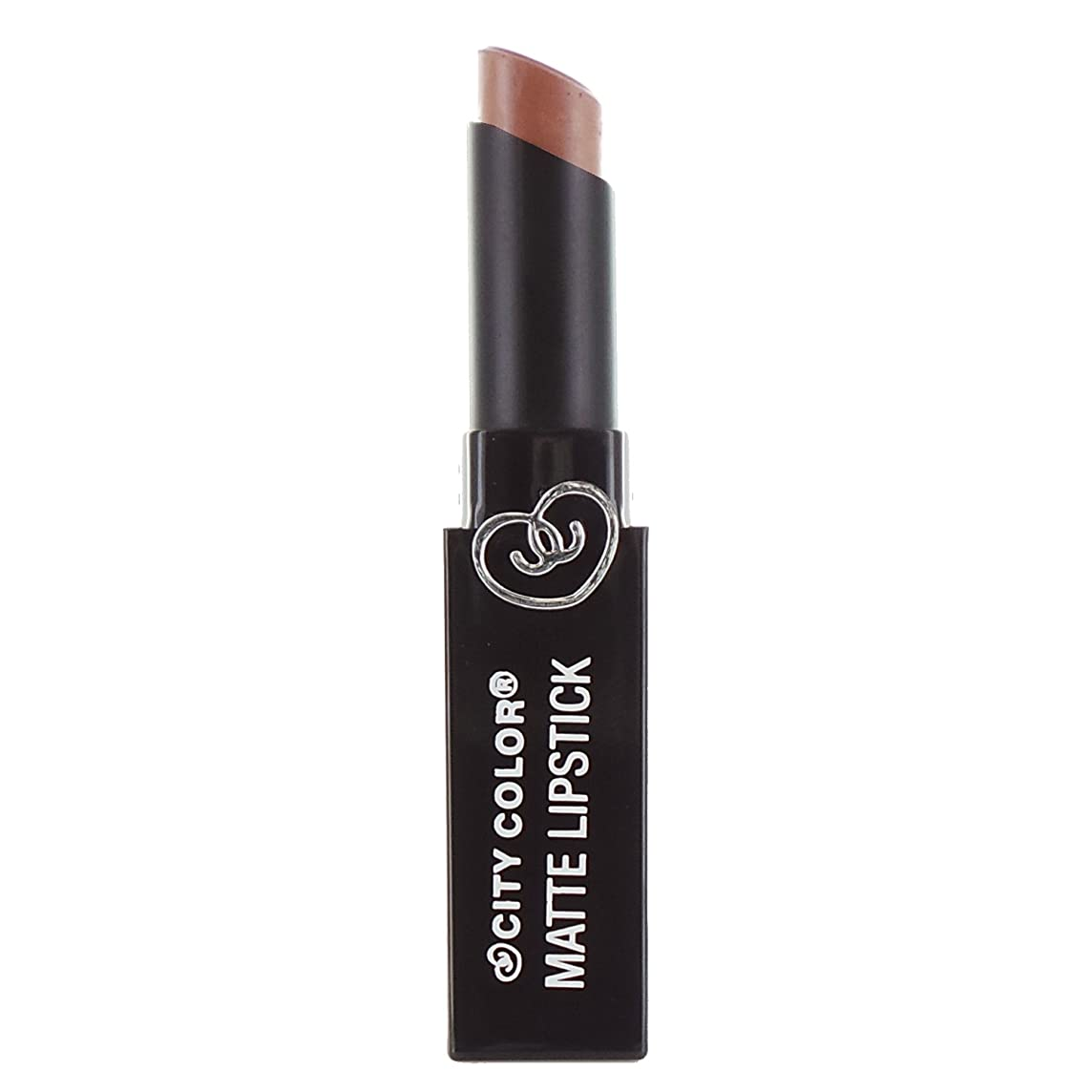 調和スコア黒人CITY COLOR Matte Lipstick L0050C - Butterscotch (並行輸入品)