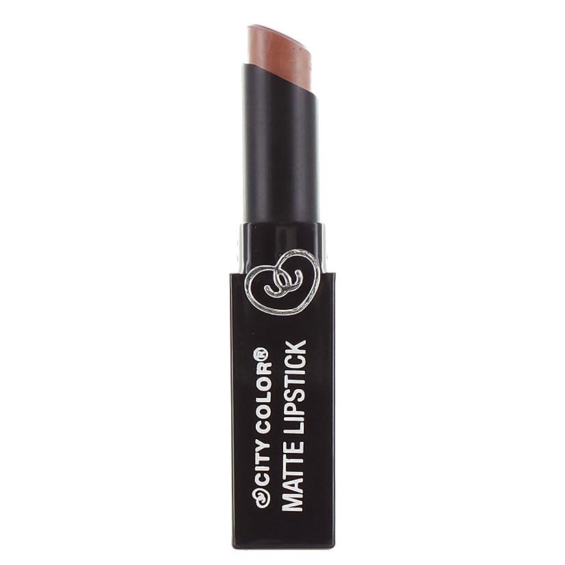 語高尚な春CITY COLOR Matte Lipstick L0050C - Butterscotch (並行輸入品)