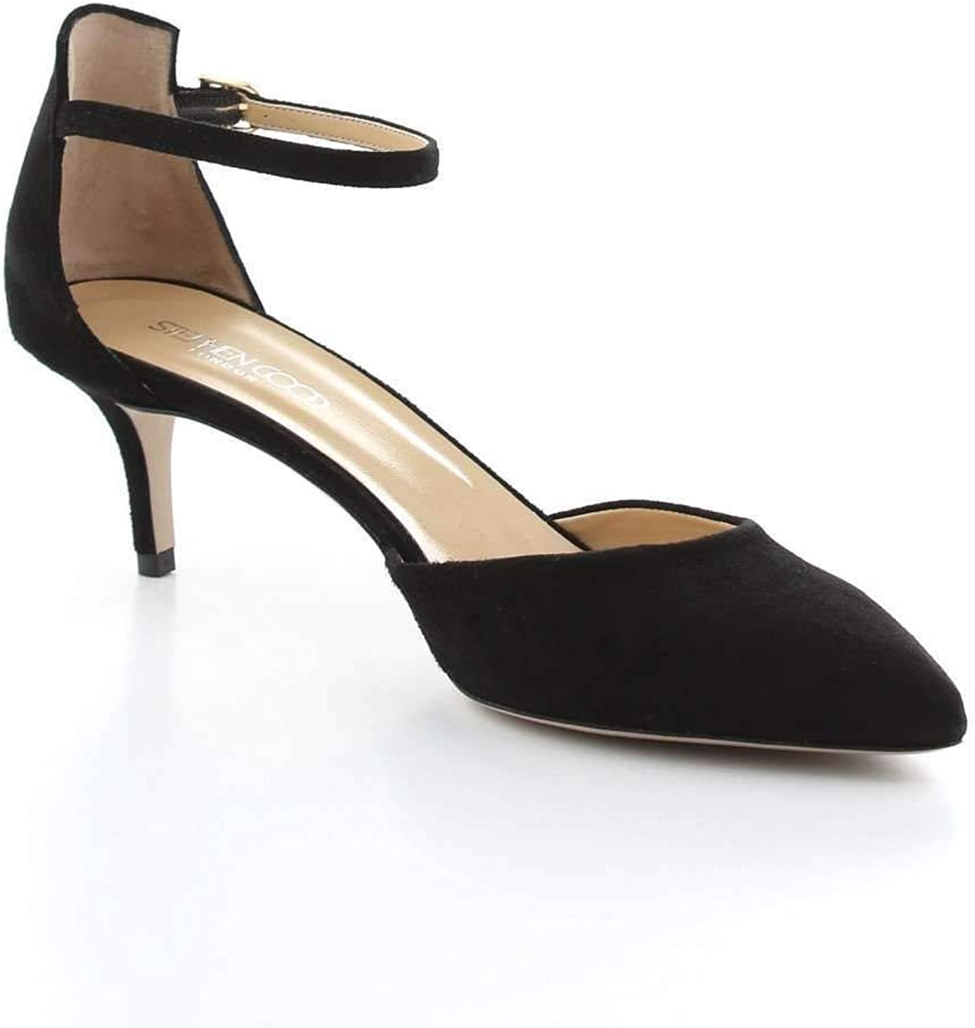 STEPHEN GOOD LONDON Women's 6008BLACK Black Suede Heels