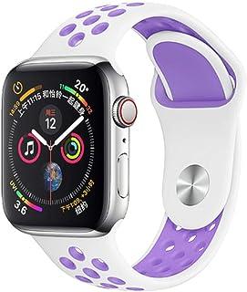 For Apple Watchのバンド5 4 3 2 1 42MM 38MMソフト通気性ストラップシリコンスポーツバンドNike + For iwatchシリーズ5 4 3 40mm 44mm-11-38MM-40MM