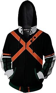 Boku No Hero Academia My Hero Academia Katsuki Bakugou Hoodies Sweatshirt Cosplay Costume Zipper Suit Jacket