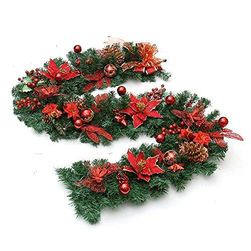 GYH Sapin de Noël - 200cm Décoration de Noël Papillon Fleur Décoration de Noël Rotin Décorations de Noël (3 Couleurs en Option) /& (Couleur : B)